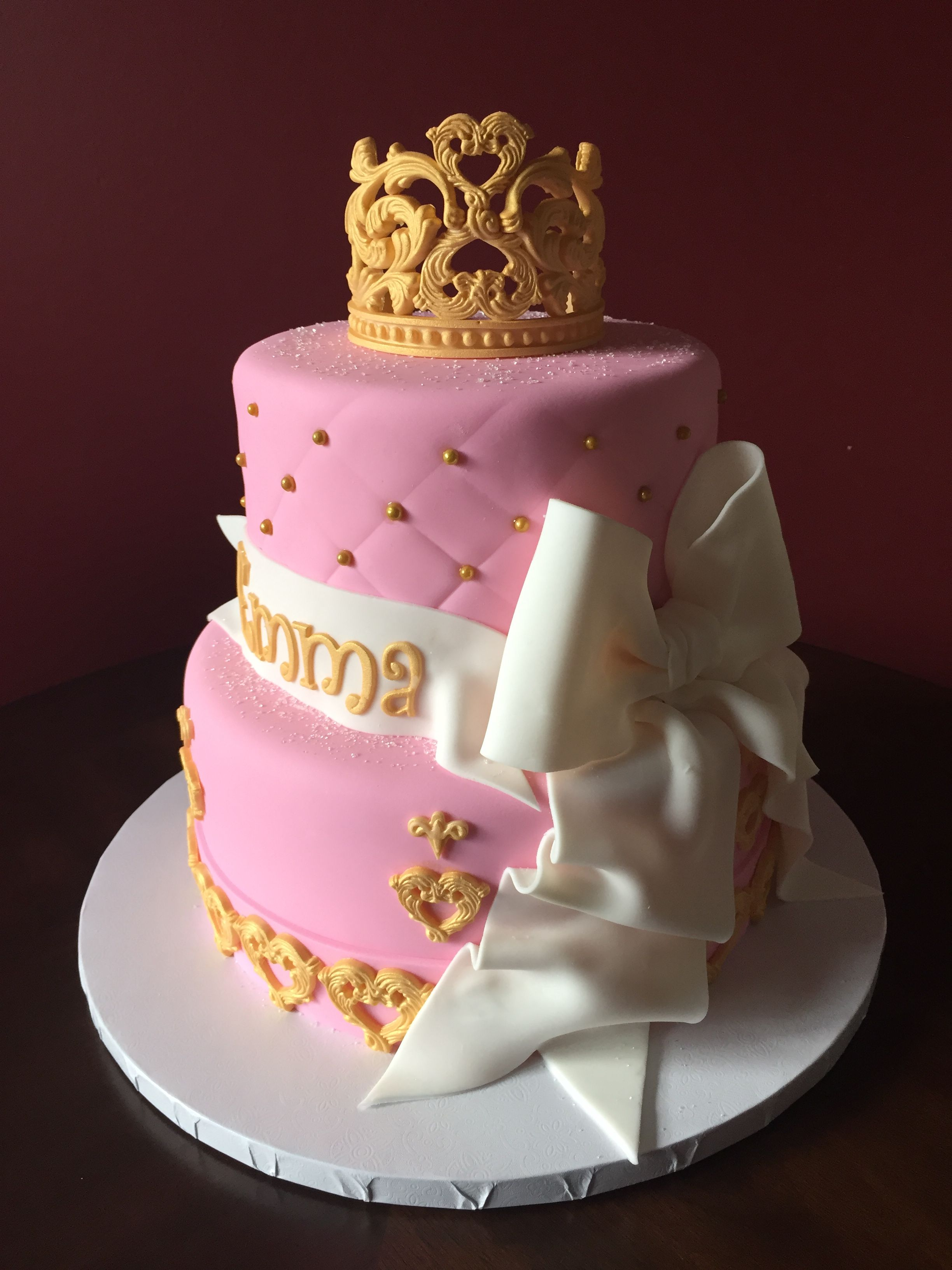 Princess Tiara Birthday Cake Birthday Cakes Pinterest Birthday