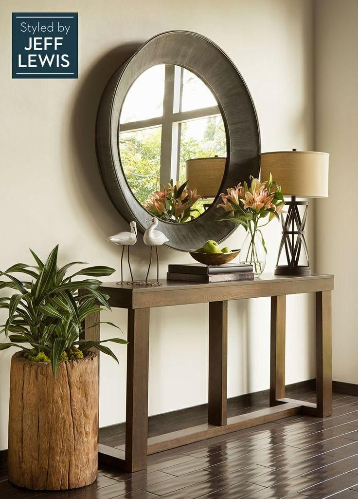 Fresh Hallway Table with Mirror