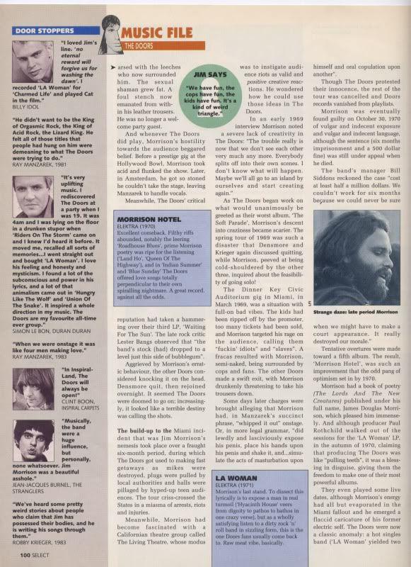 The Doors influence on Duran Duran