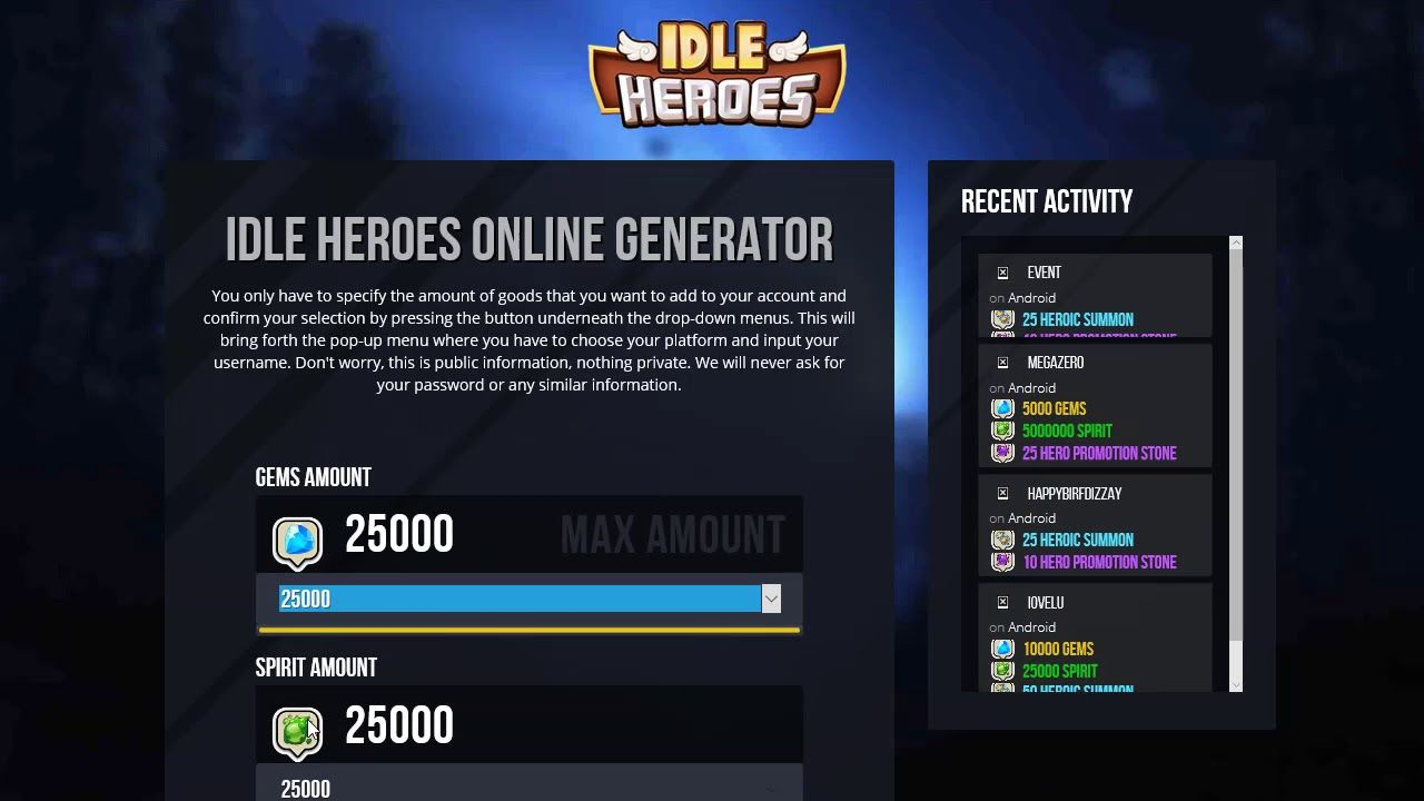 Idle Heroes Free Gems [2017] Working 100% Android and IOS