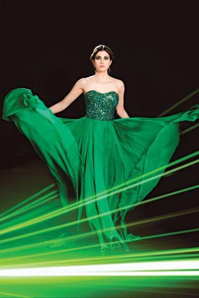Vestido Verde Esmeralda Largo Mercadolibre Vestidos De