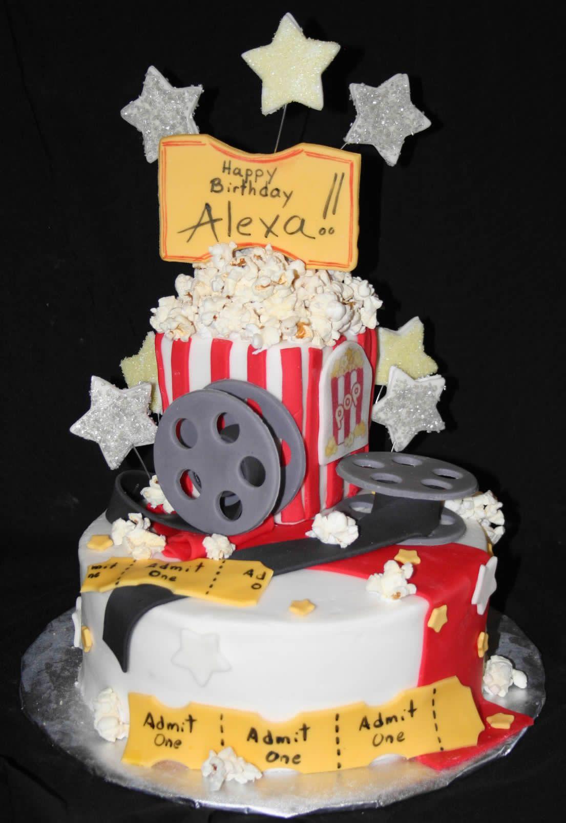 Movie Night Cake Movie Night Birthday Party