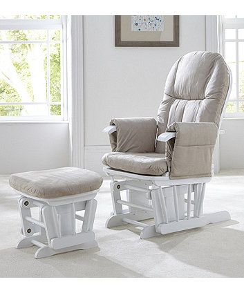 Tutti Bambini Deluxe Reclinable Glider Chair And Stool