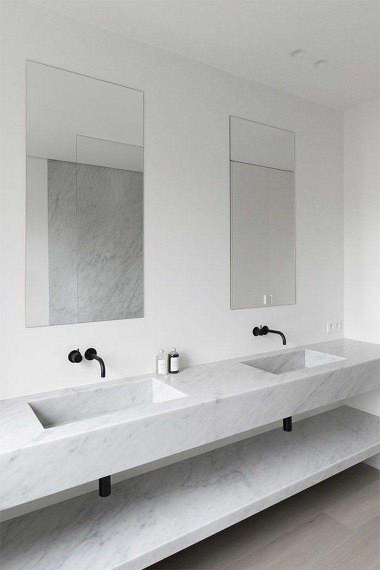 Cuartos de baño marmol lujoso en suelo y paredes   Baños ...