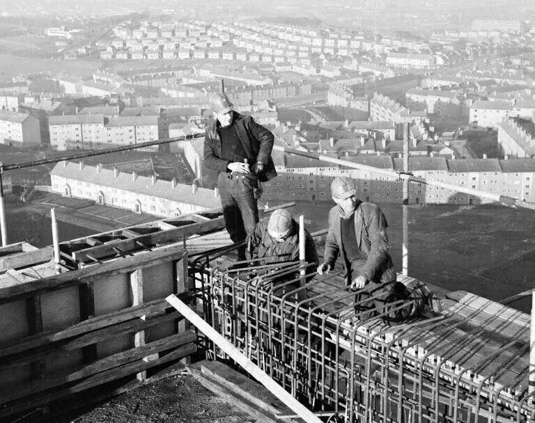 Construction of Dougrie Flats, Castlemilk, Glasgow