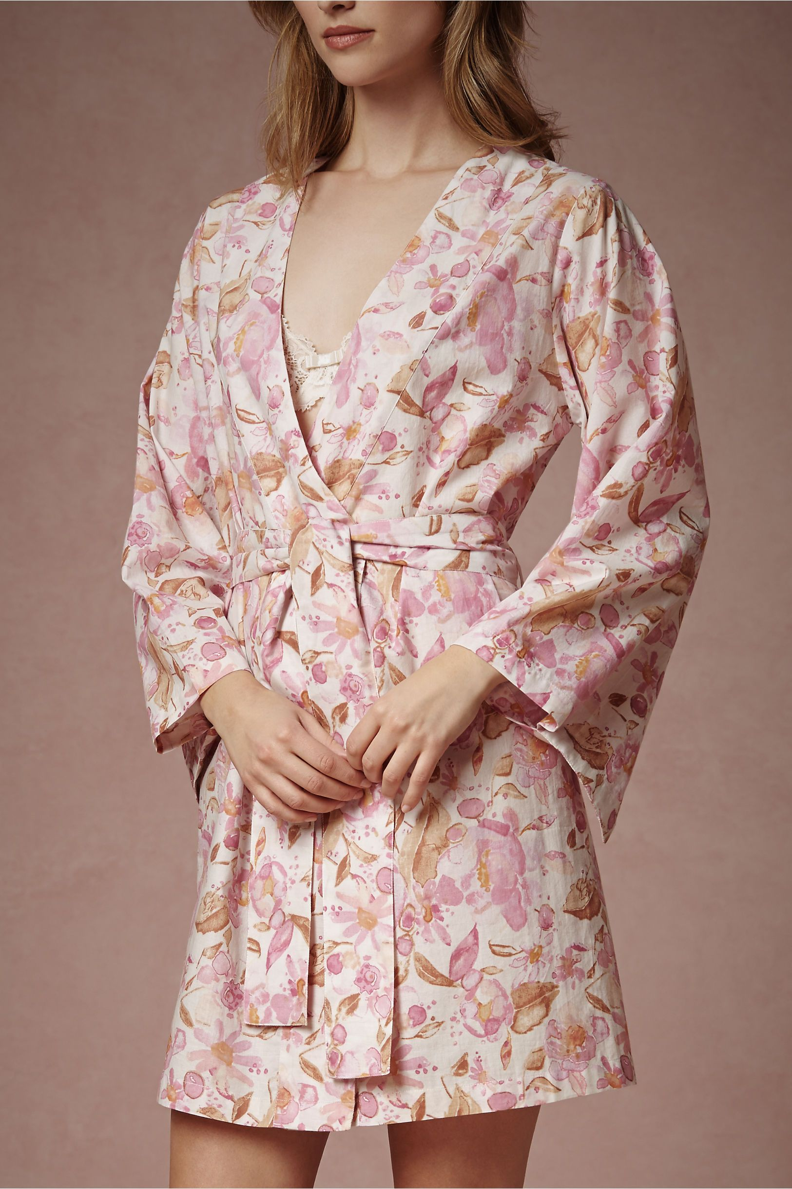 $65 Painted Petal Robe in Lingerie View All Lingerie at BHLDN | Robe ...