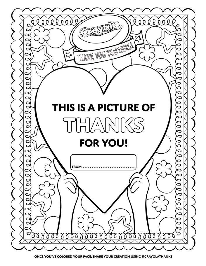 Thank a Teacher Heart | Heart coloring pages, Crayola ...