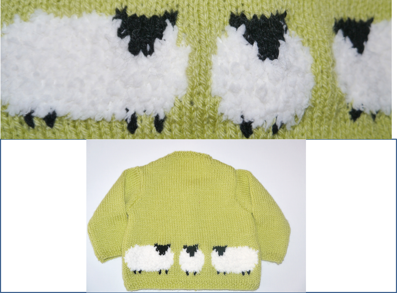 Knitting Pattern for Child\'s Sheep Jumper from www.iKnitDesigns.com ...