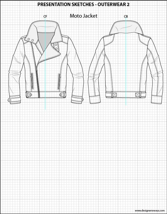 mens illustrator flat fashion sketch templates presentation