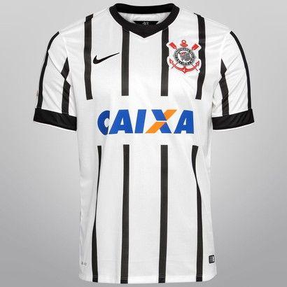 Camisa Nike Corinthians I 14 15 s nº - Branco+Preto  c78ff003bb519