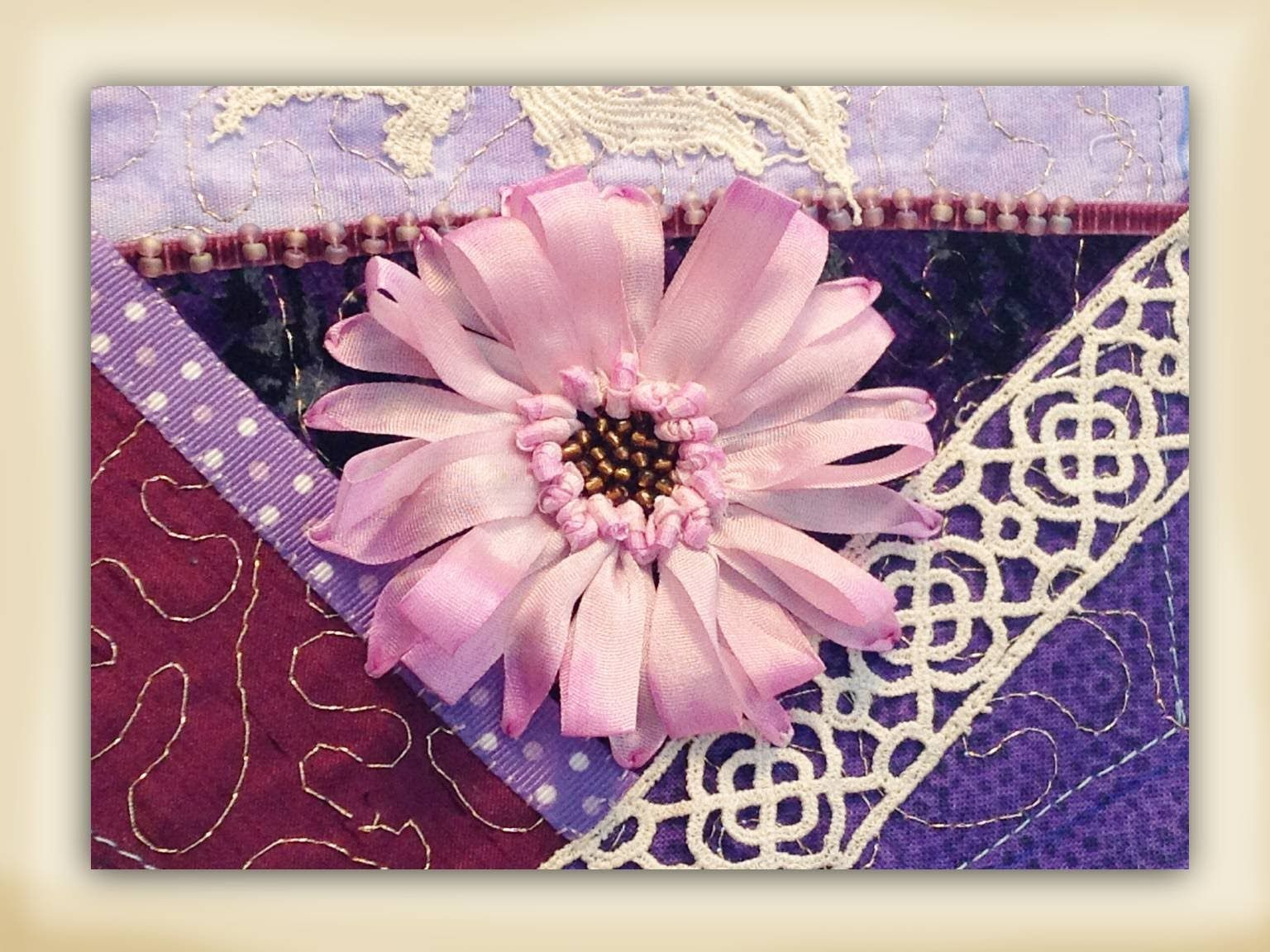 How To Make A Silk Ribbon Embroidered Gerbera Flower Ribbon