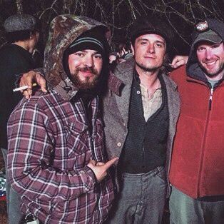 Josh Hutcherson on the set of In Dubious Battle