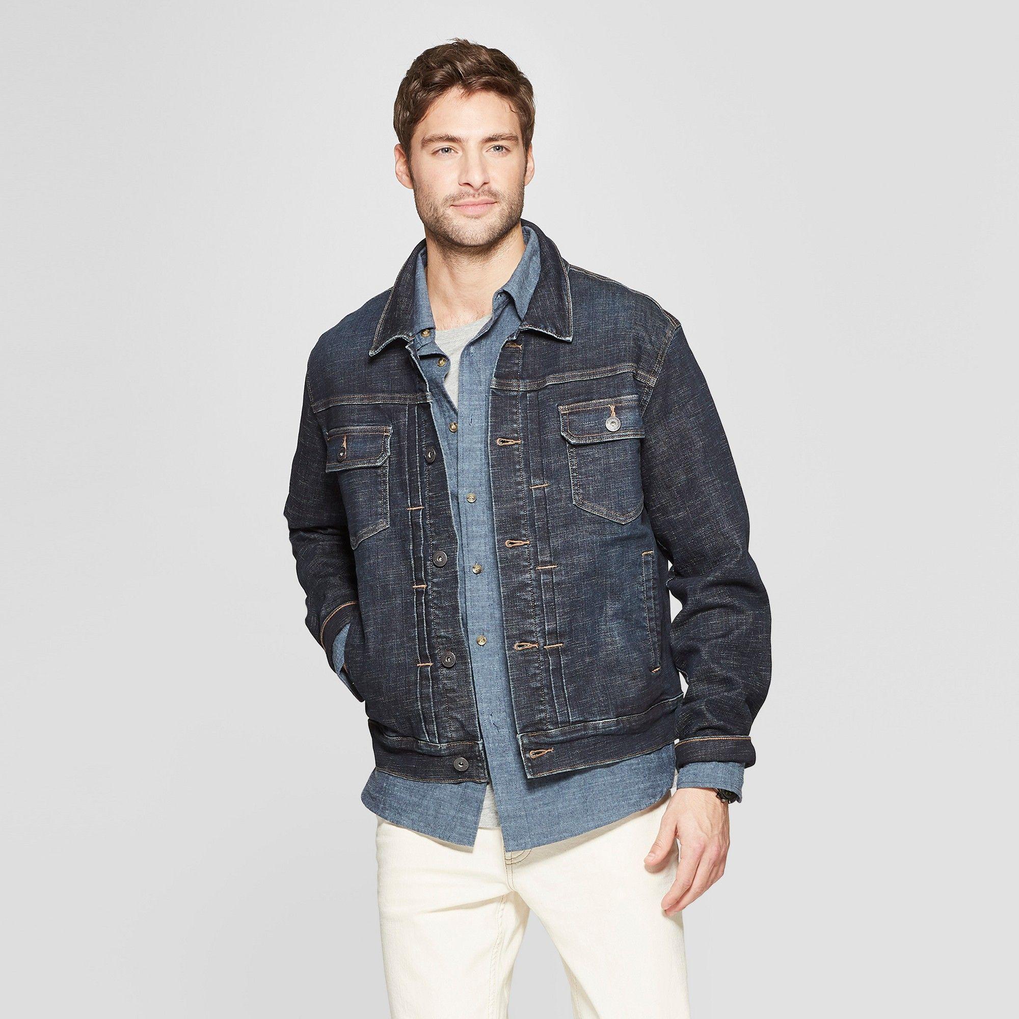 51659cc82 Men's Crosshatch Vintage Denim Jacket - Goodfellow & Co Dark Wash ...