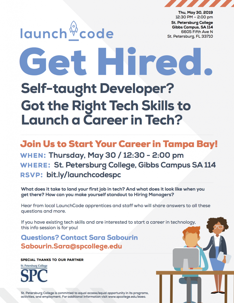 Jump Start Your Tech Career With Launccode At Spcspg On May 30