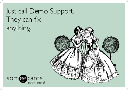 Just call Demo Support. They can fix anything. #weloveDS #stampinup