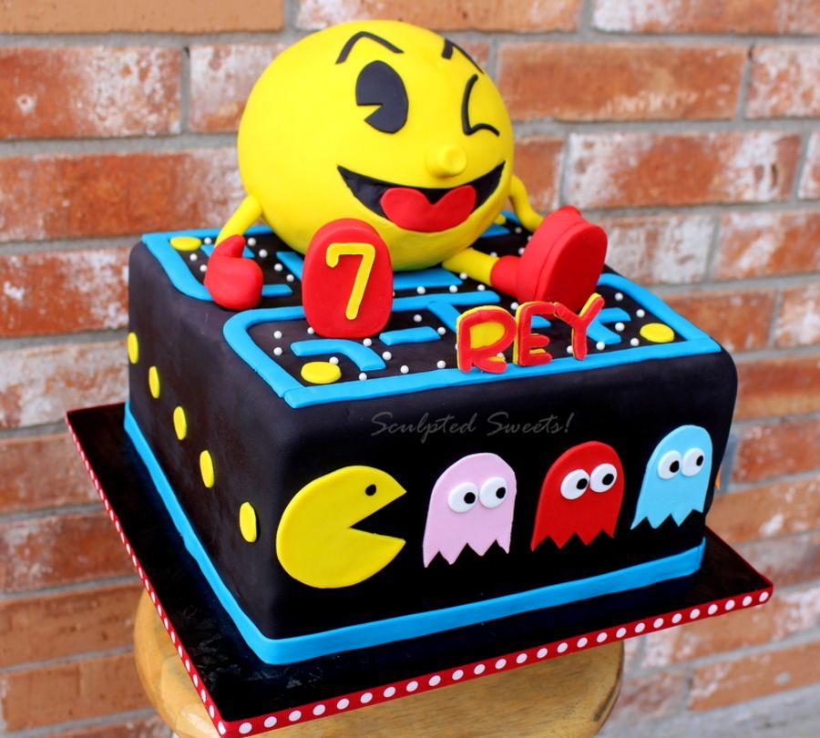 Pac Man Today I Can More Pinterest Pac Man Cake Cakes For Men