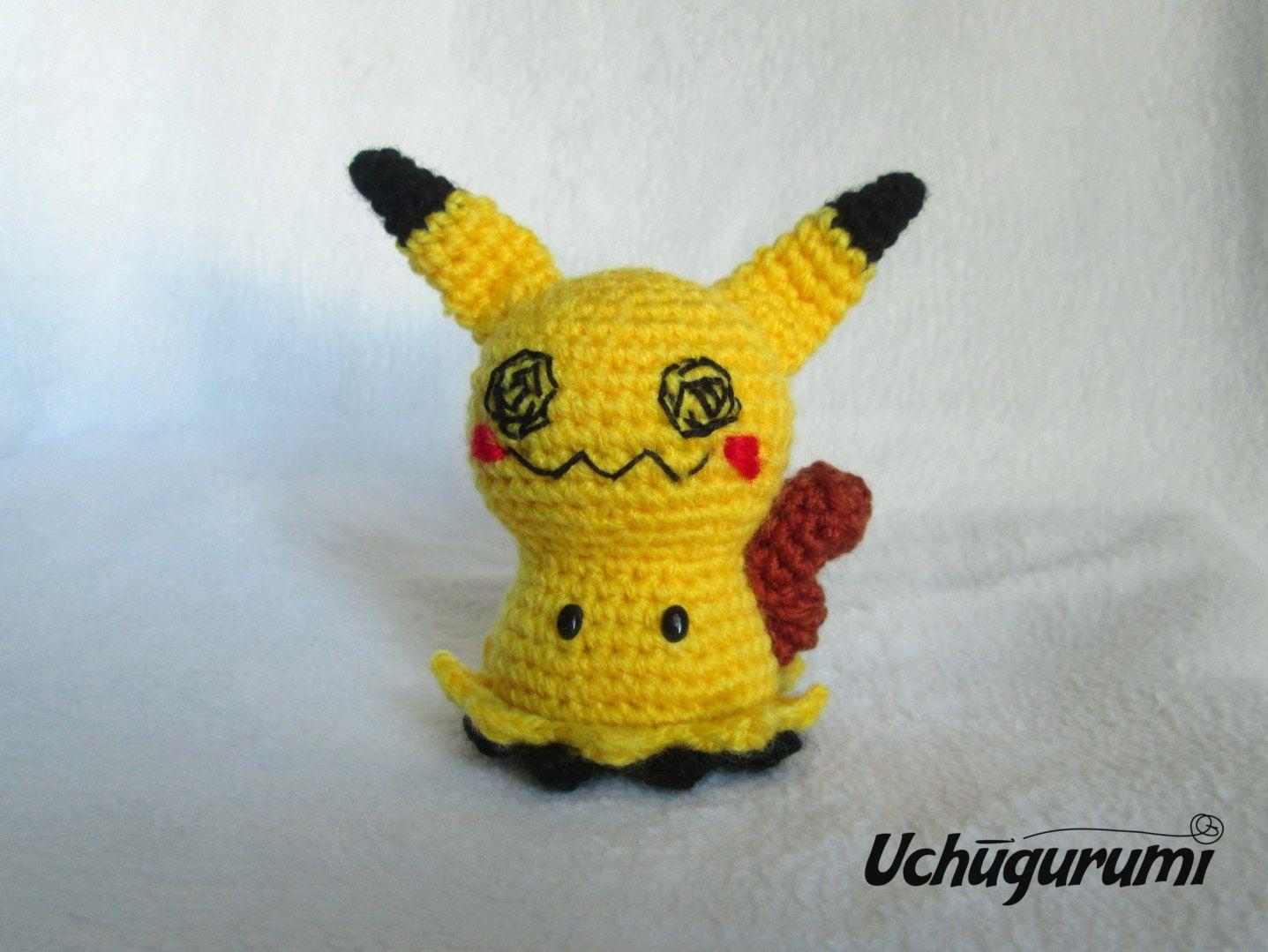 Pokémon Mimikyu crochet. Making of | Tamknitting | 1079x1437