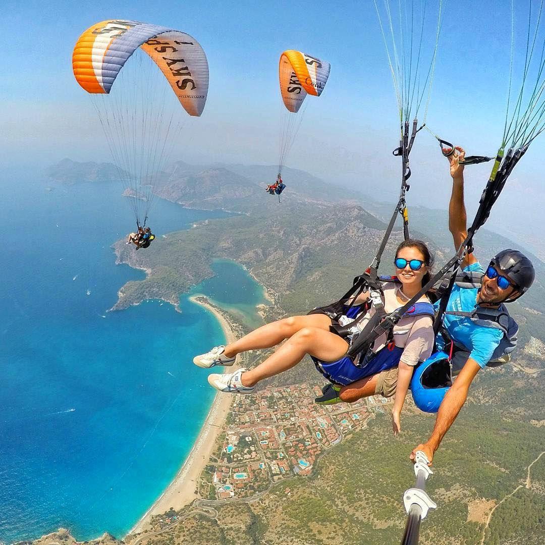 Epic paragliding shot in Ölüdeniz, Turkey. Pic by @buraktuzer ...