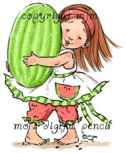 Mo's Digital Pencil - watermelon girl, $3.00 (http://www.mosdigitalpencil.com/products/watermelon-girl.html/)