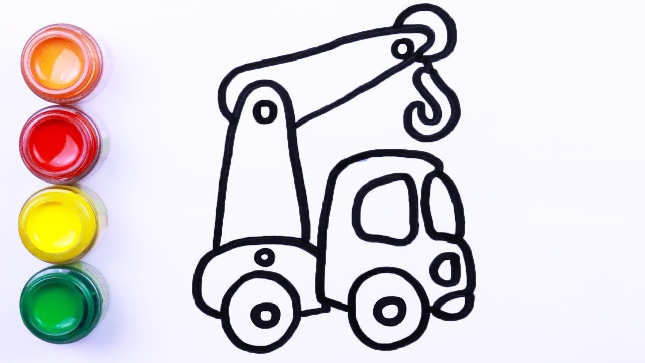 Drawing And Coloring Toy Truck For Kids Toddler Drawing And