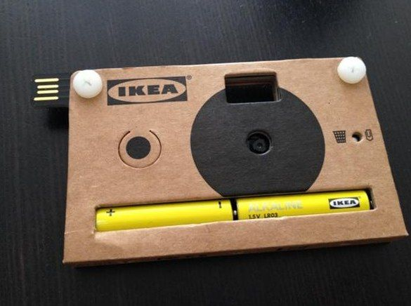 Ikea S Very Cool Cardboard Camera Shoots Stores Up To 40 Images Uses Aa Batteries Which If You Can Cardboard Camera Disposable Digital Camera Paper Camera