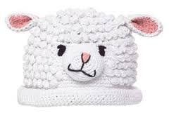 Risultati immagini per sheep hat crochet