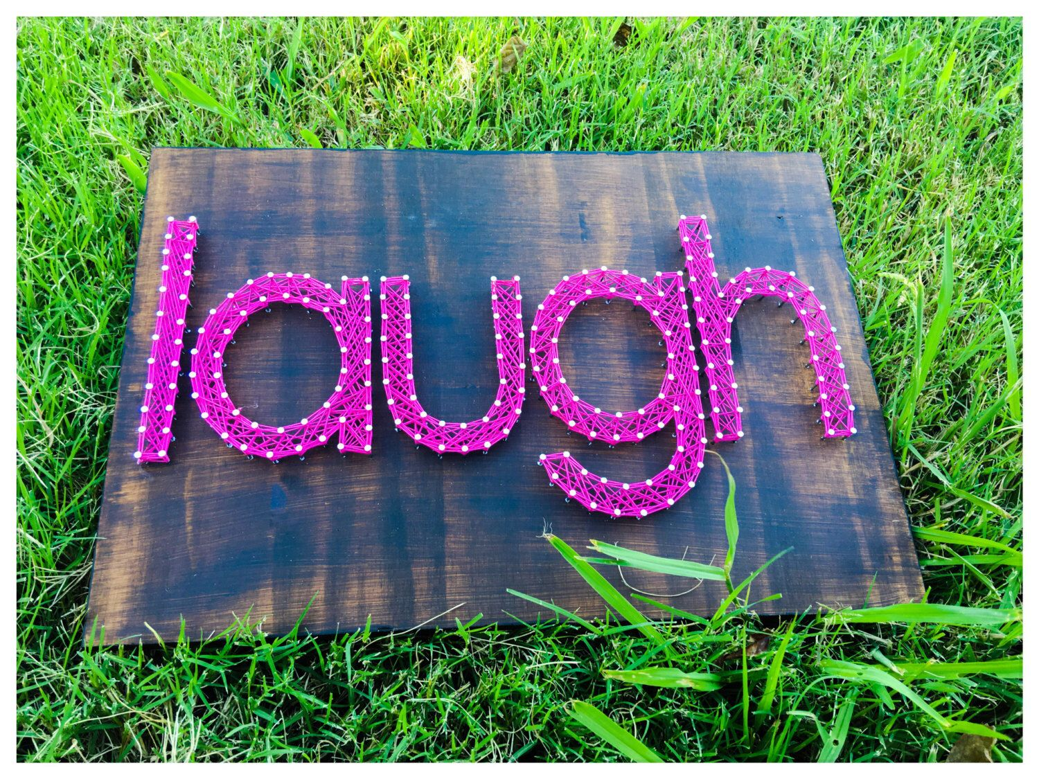 Made To Order Custom Word String Art! by NataliesRusticJunk on Etsy https://www.etsy.com/listing/479672491/made-to-order-custom-word-string-art