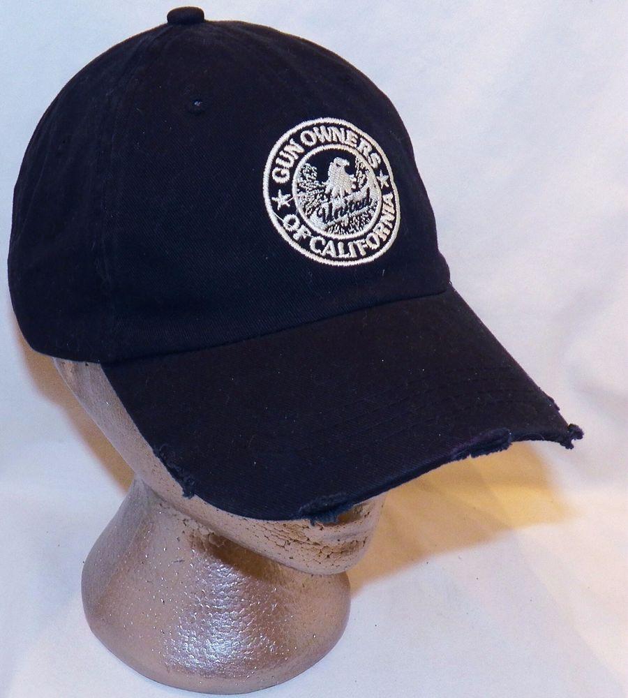 4563601d United Gun Owners of California GOA America Distressed Black Baseball Hat  Cap #Arakawa #BaseballCap