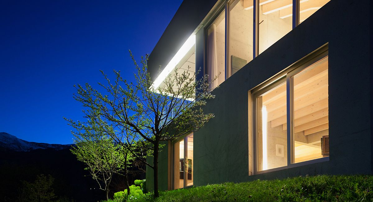 Exterior and interior lighting meet to accentuate a buildings ...