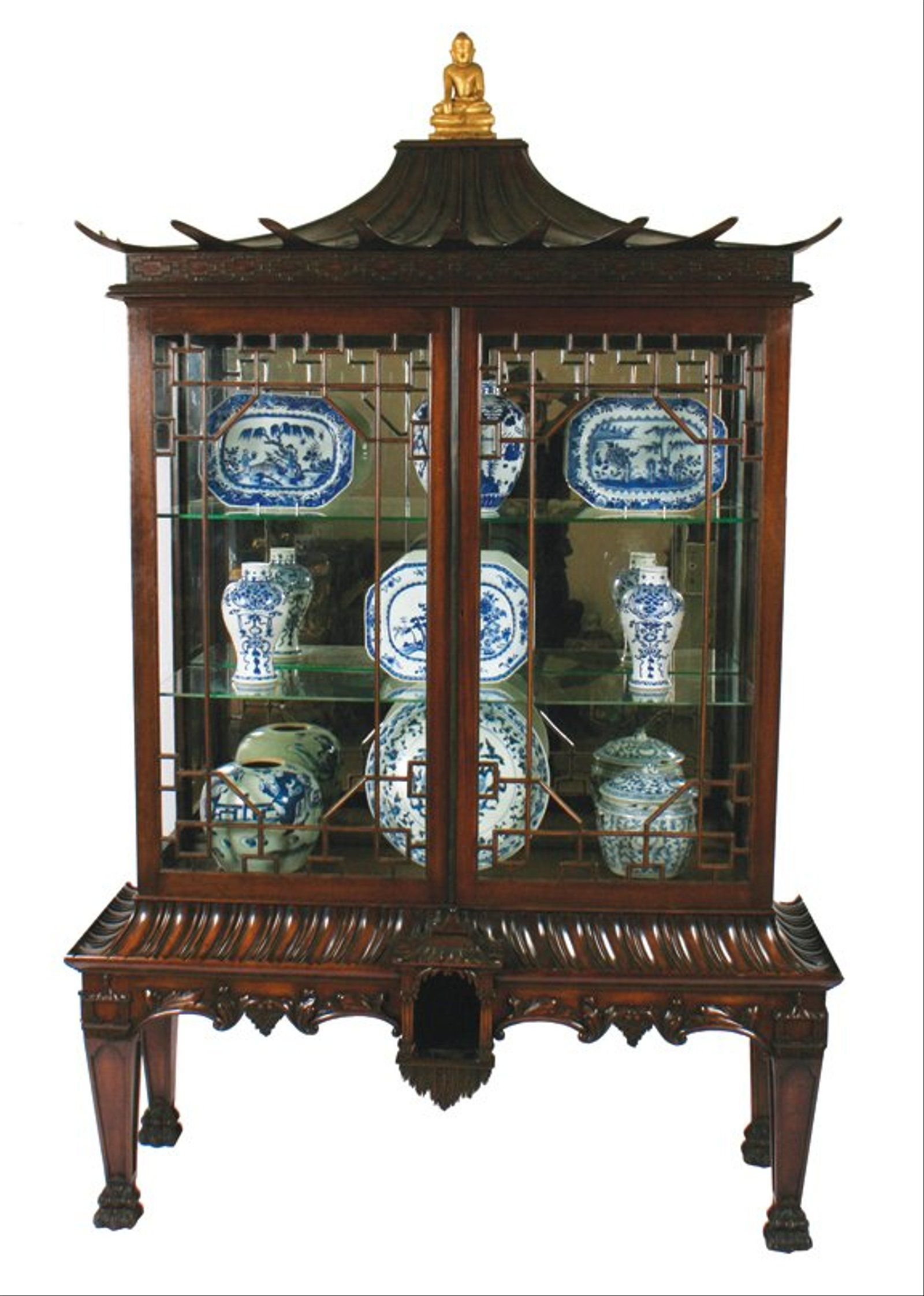 Important Edwardian period Chinese Chippendale display #edwardianperiod Important Edwardian period Chinese Chippendale display #edwardianperiod