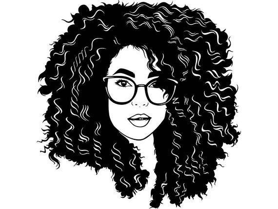 Pretty Queen Woman Nubian Princess Curly Hair Beautiful African American Female Ladysvg Eps Png Ve Curly Hair Styles Black Girl Magic Art Black Girl Art