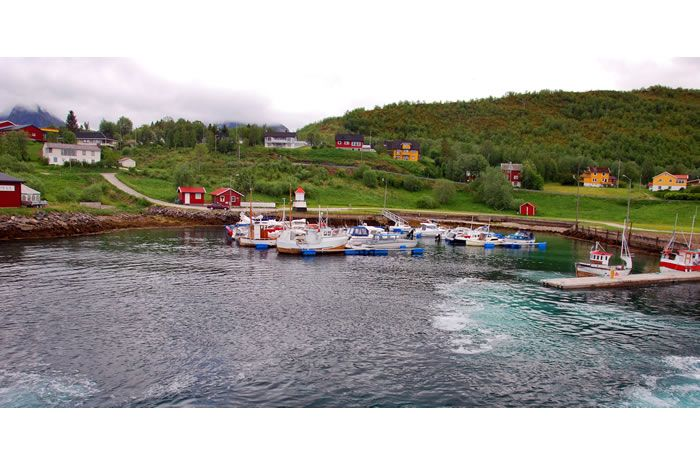 Bogøy, one of the small coastal communities that relies of the Express Boat as it travels between Bodø and Svolvær.