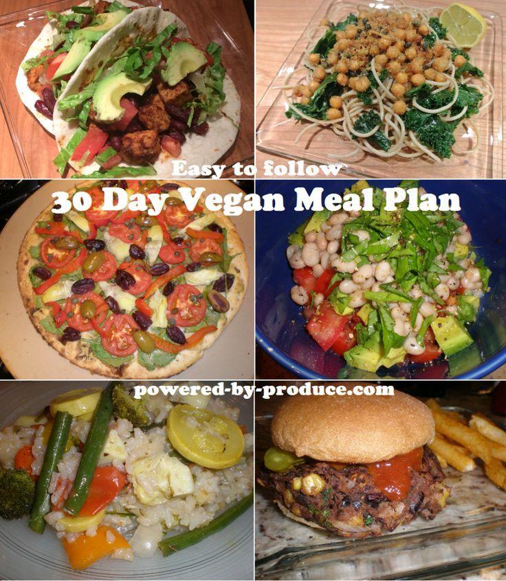 30 Day Vegan Meal Plan Vegan Meal Plans Vegan Recipes Vegetarian Vegan Recipes