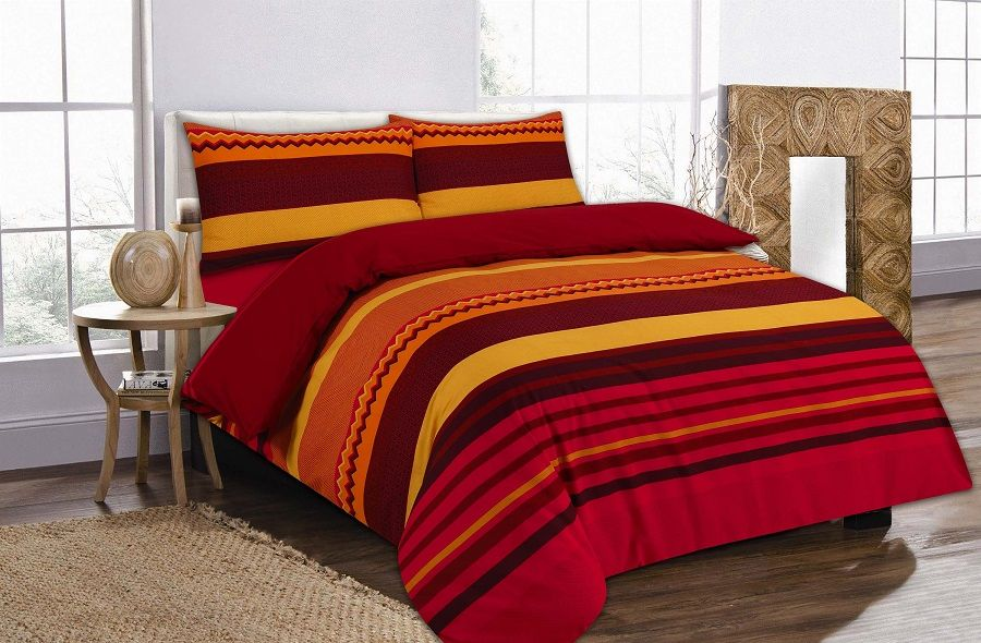 Benjamin Stripes Duvet Quilt Cover Bedding Set Red Linens Range Bed Linens Luxury Matching Bedding And Curtains Linen Bed Cover