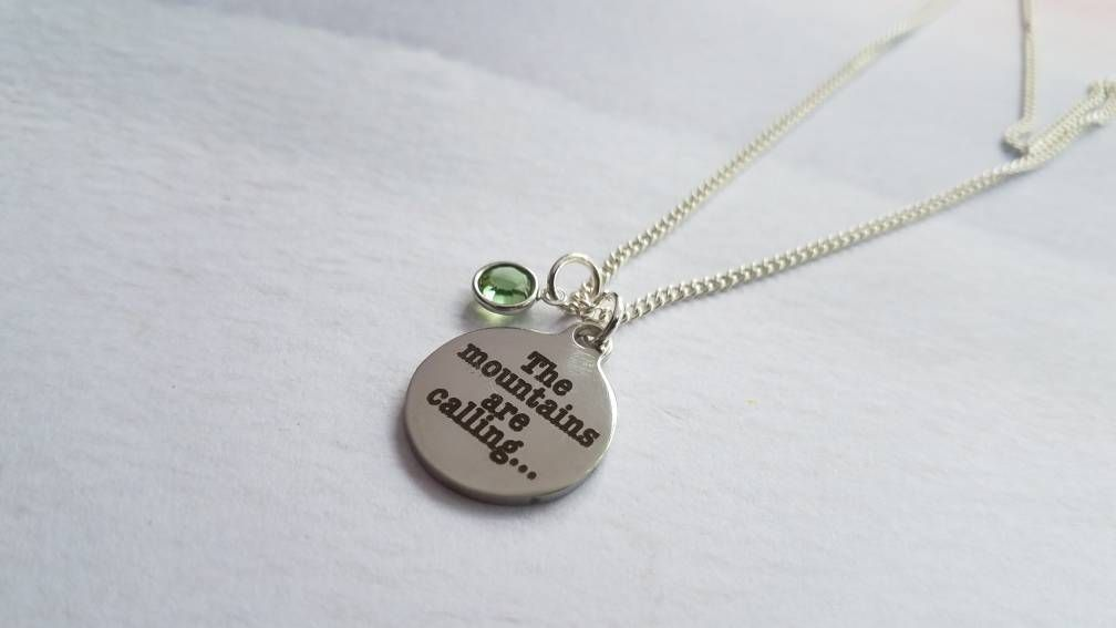 Mountains are Calling Necklace - Nov