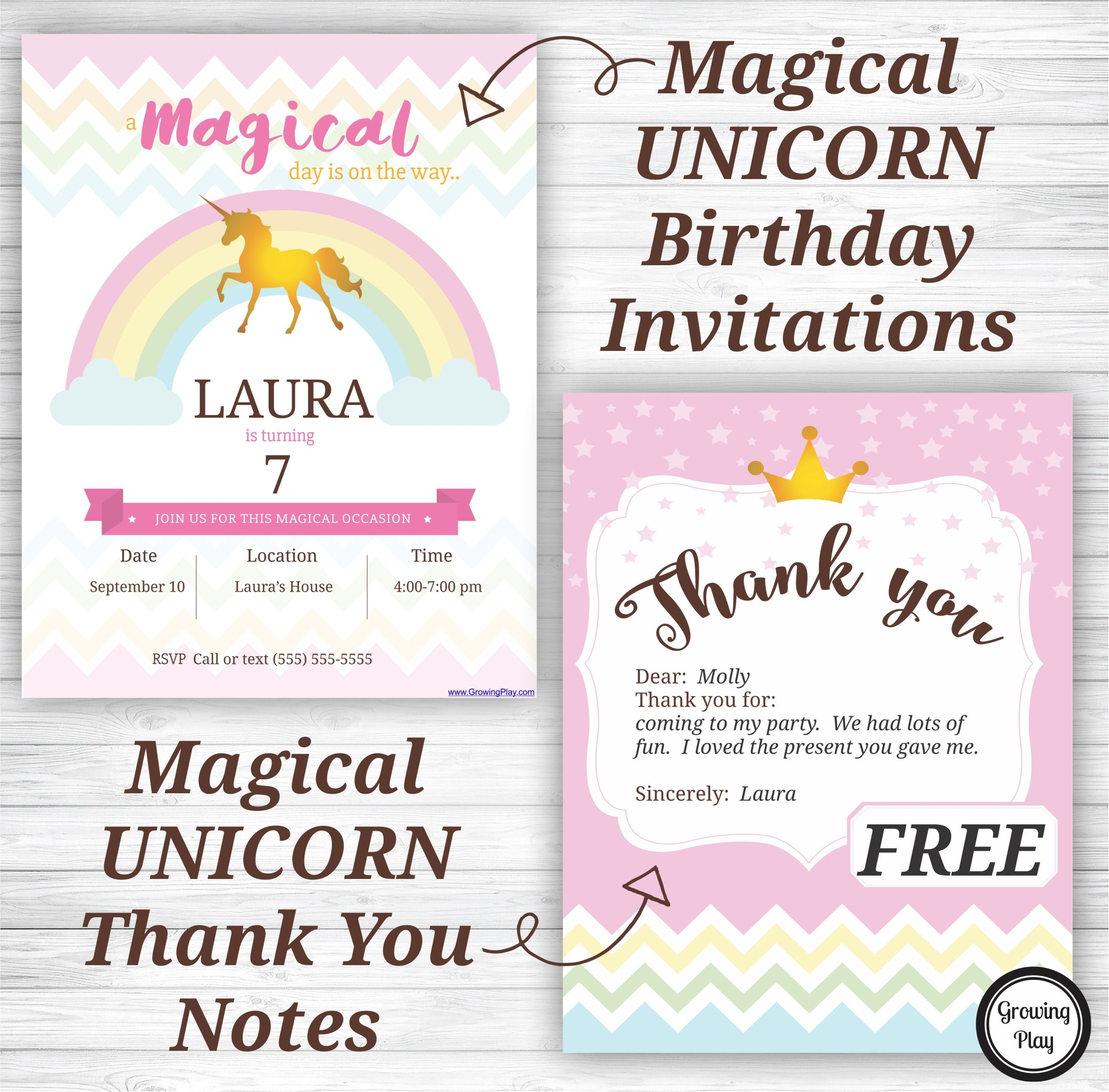 Download Your FREE Unicorn Birthday Party Invitations And