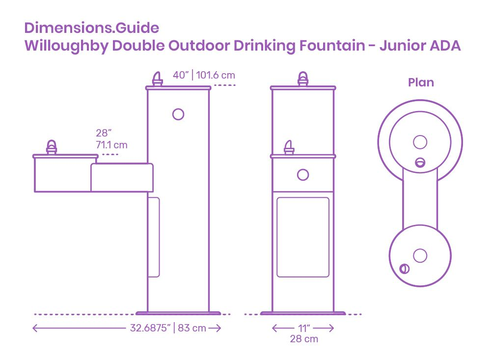 Willoughby Double Outdoor Drinking Fountain Junior Ada Outdoor Drinking Fountain Drinking Fountain Fountains Outdoor