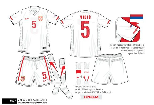 Serbia away kit for the 2010 World Cup Finals.