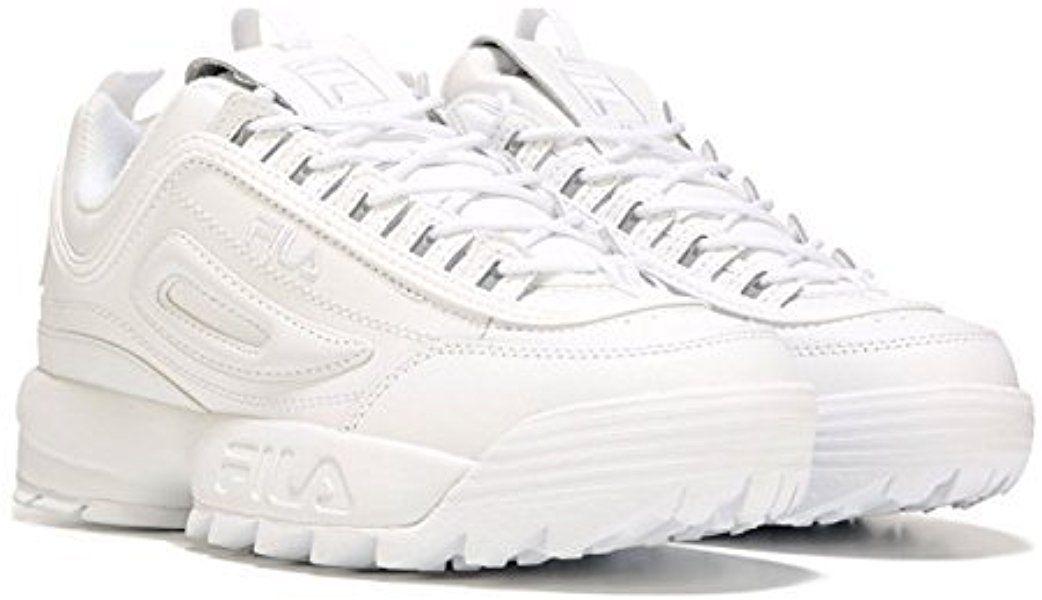 89489b05df354 Amazon.com: Fila Women's Disruption II Premium Sneakers White ...