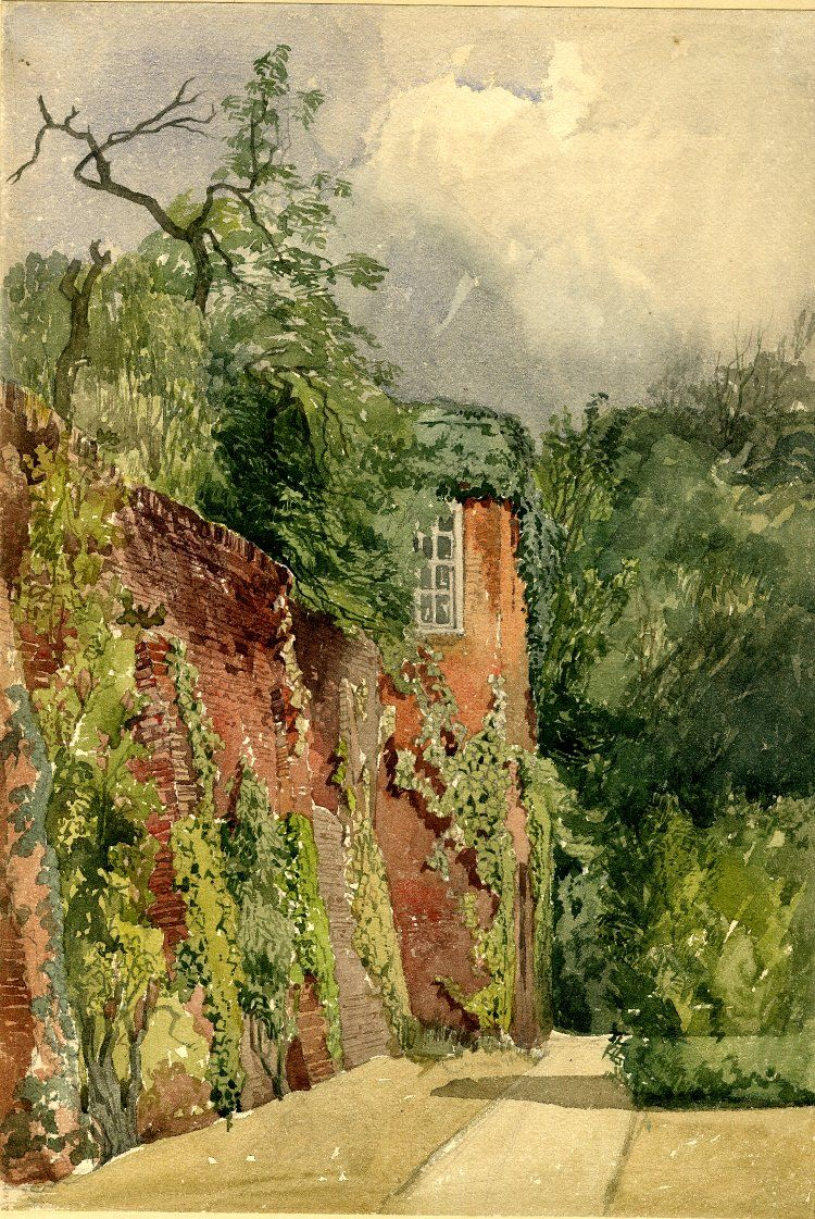 Red House Drawing: Prior Bolton's Garden House, Canonbury, Islington; A Small