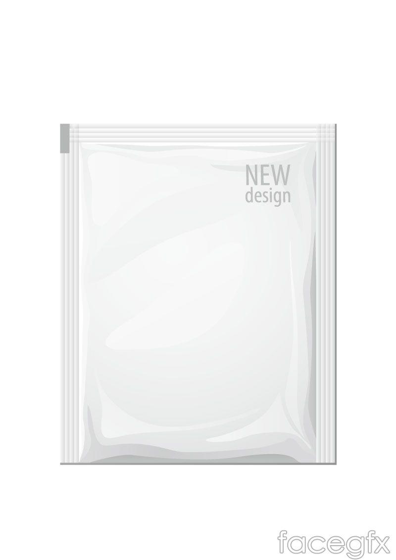 Skincare packaging vector