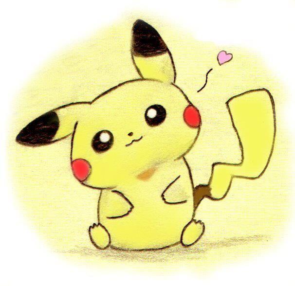 Anime cute draw drawing girl pikachu pokemon