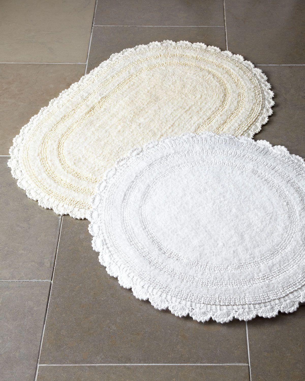 Cobra Trading Crochet Border Bath Rugs Matching Items Oval Bath Rugs Bath Rugs Round Bath Rug