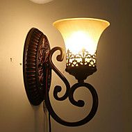 31*16*24CM+Europe+Type+Restoring+Ancient+Ways,+Wrought+Iron+Bedroom+Glass+Wall+Lamp+LED+Light+–+GBP+£+72.09