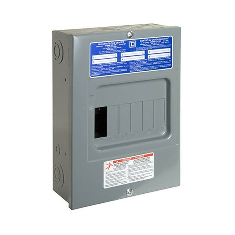 Sponsored Ebay Square D By Schneider Electric Hom612l100scp Homeline 100 Amp 6 Space 12 Circ With Images Electrical Breaker Box Electrical Breakers Circuit