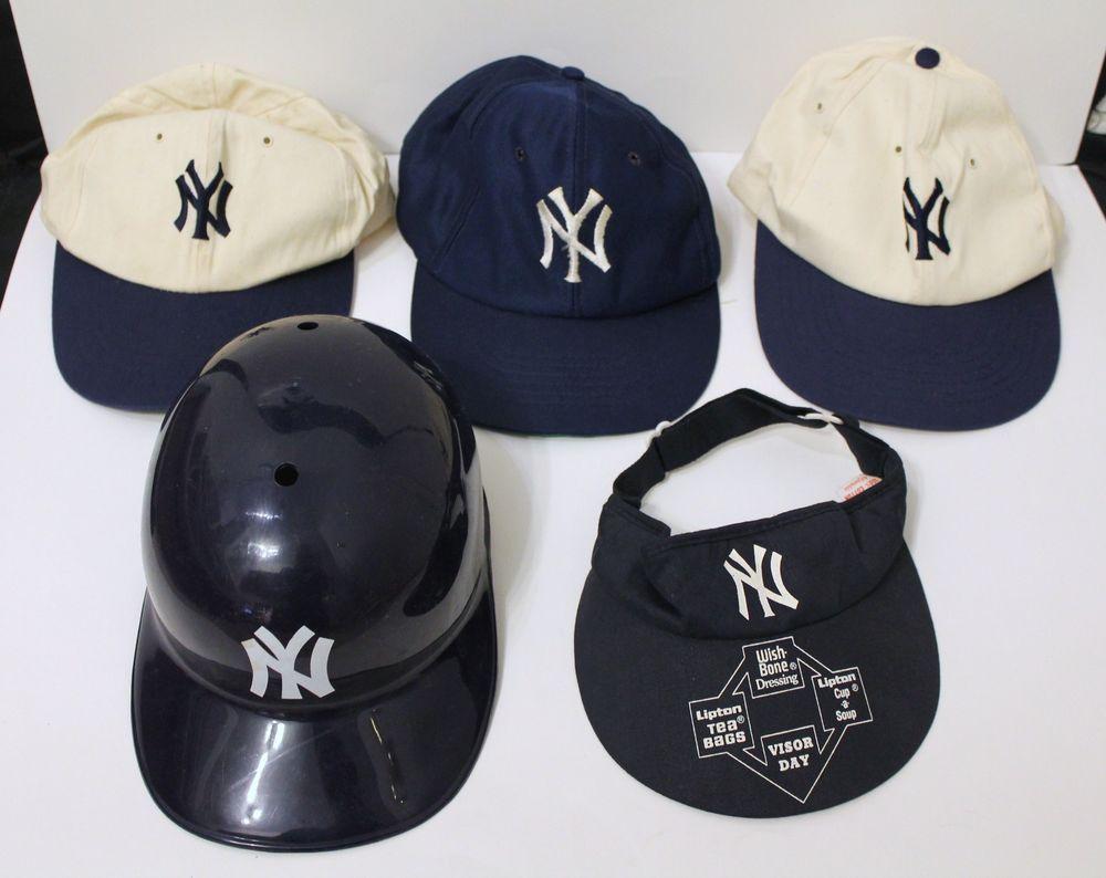 Ny Yankees Hats Lot Of 3 With Visor And Toy Helmet Bonus Ny Yankees Yo Yo From 10 0 New York Yankees Yankees Visor