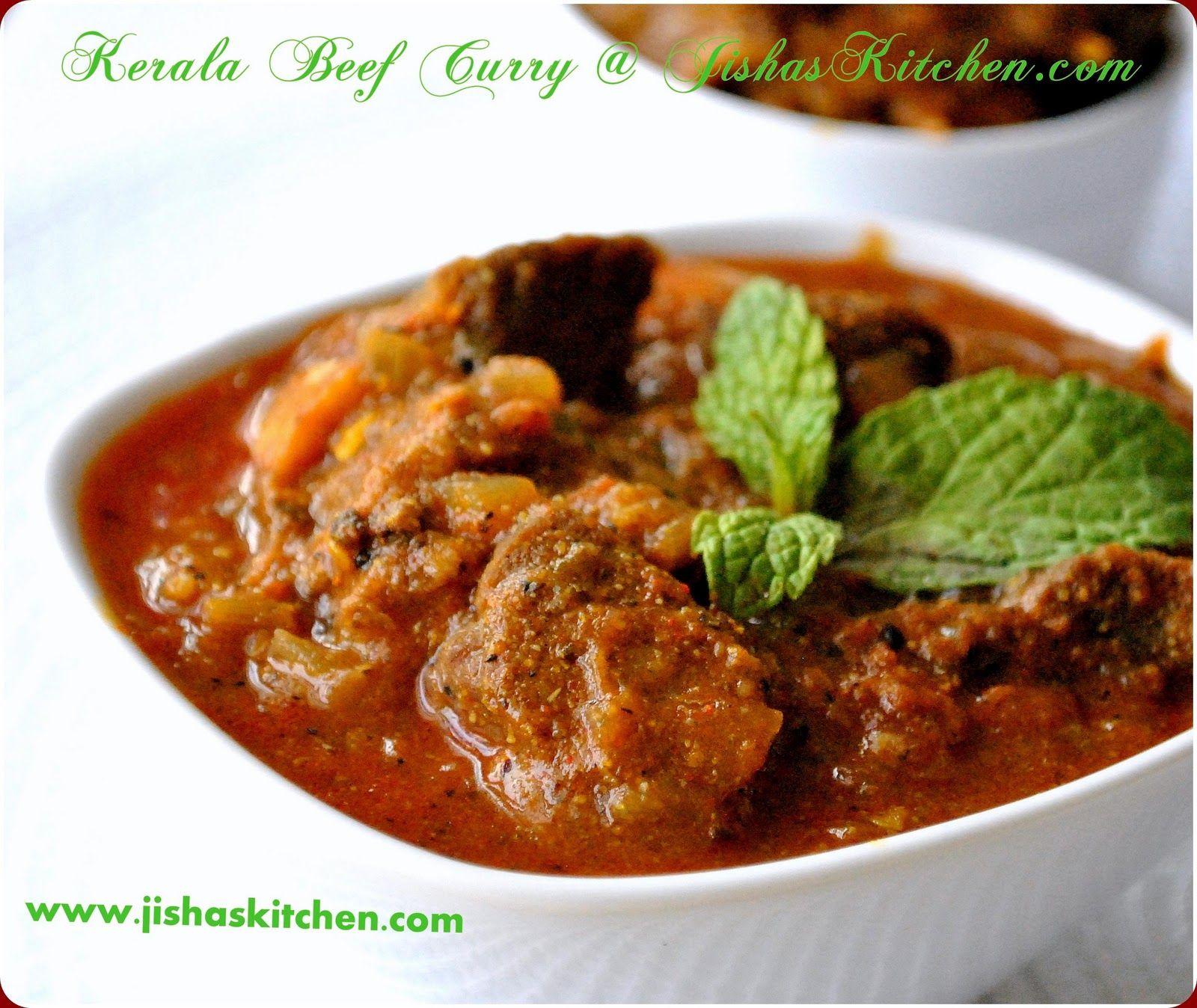 Jisha S Kitchen Kerala Spicy Beef Curry Indian Recipes