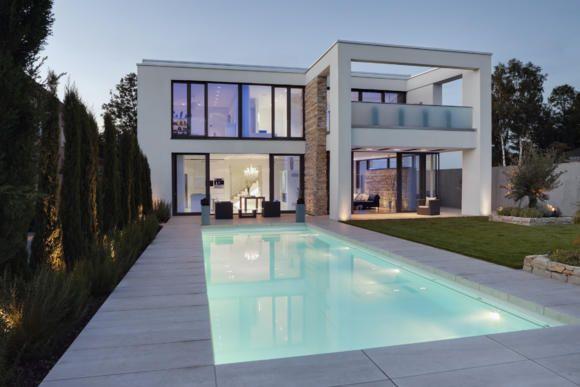 Moderne häuser grundriss mit pool  haus grundriss l-form - Google-Suche | Architecture | Pinterest ...