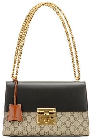 93e9549c188 Gucci Padlock GG Supreme Medium leather and coated canvas shoulder ...