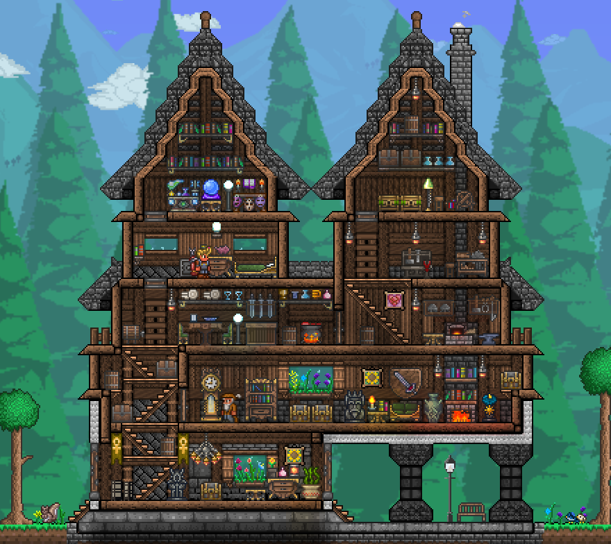 Terrarium Terraria House Design: Click This Image To Show The Full-size Version.